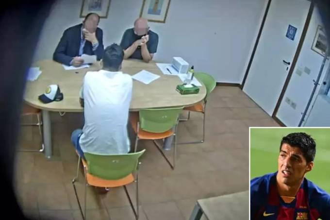 Imagens divulgadas pela imprensa italiana mostram exame de Suárez em Perugia