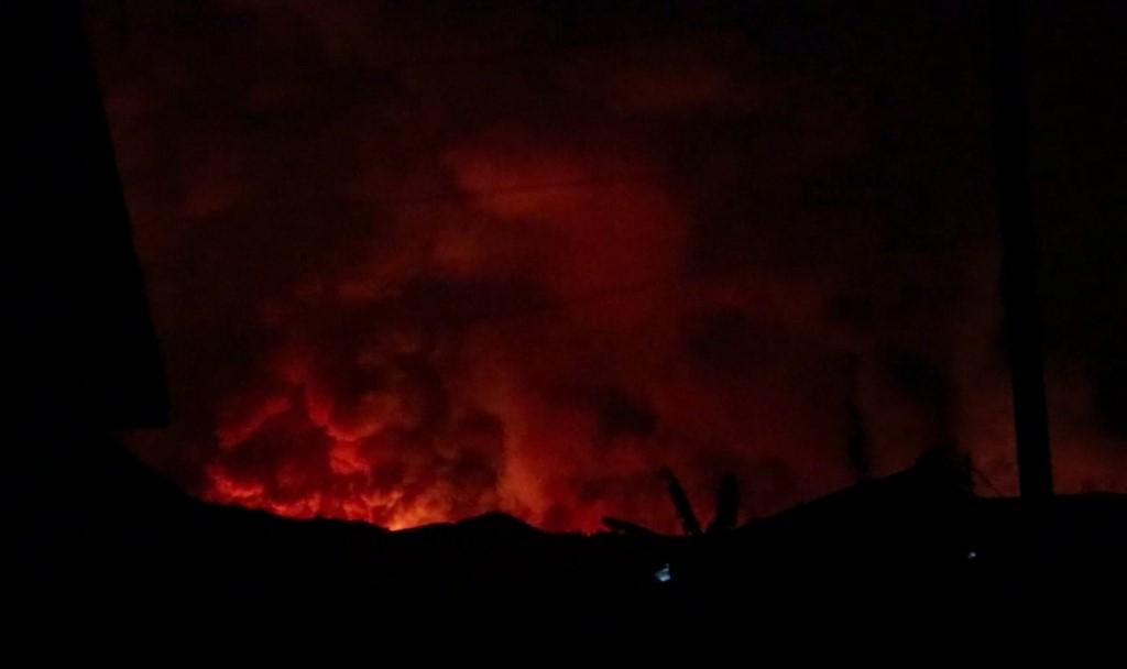 Erupção do Vulcão Nyiraongo