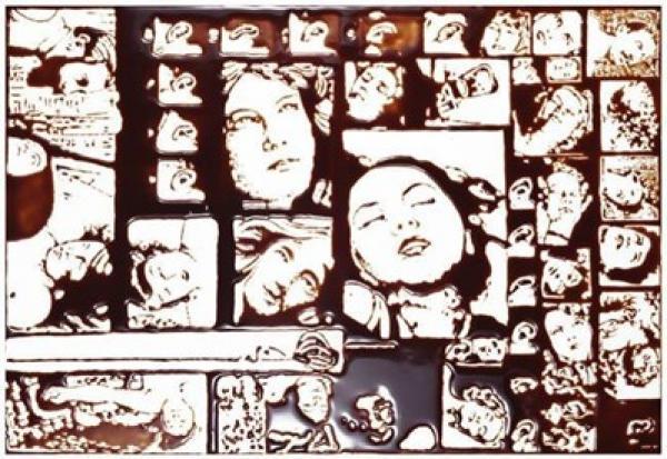 """O quadro """"Chocolate"""", de Vik Muniz, aceitará lances a partir de 60.000 reais"""