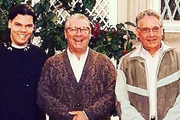 Bruno ao lado do avô Mário Covas e Fernando Henrique Cardoso -