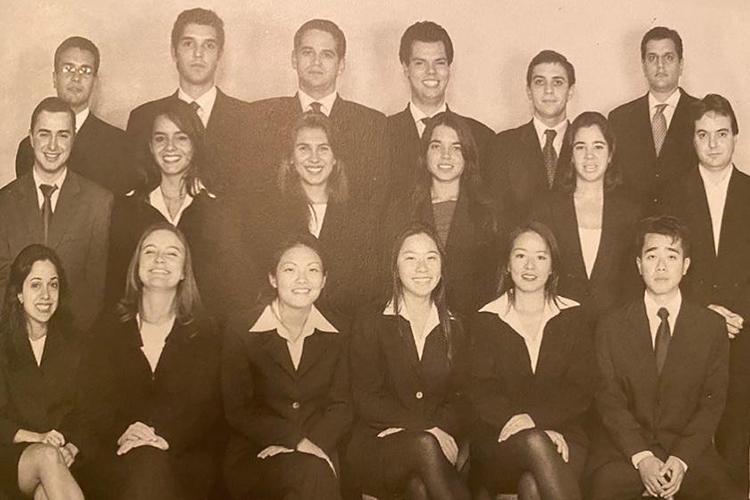 Bruno Covas, em foto com a sua turma do curso de Direito -