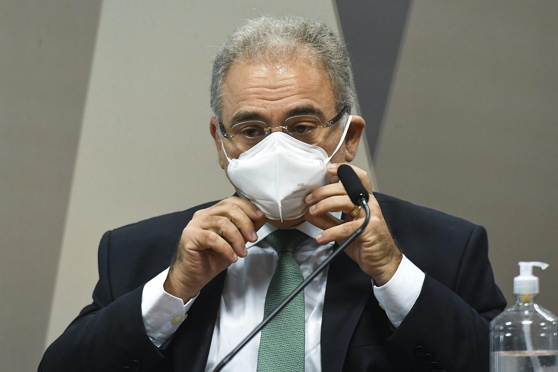 O ministro da Saúde, Marcelo Queiroga, durante a CPI da Covid -