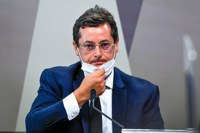 Ex-secretário da Secom,  Fabio Wajngarten  na CPI da Covid