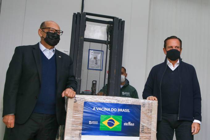 Dimas Covas e João Doria CoronaVac