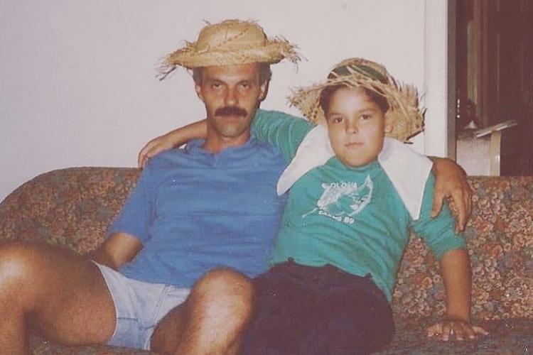 O prefeito de São Paulo com o seu pai, Pedro Lopes -