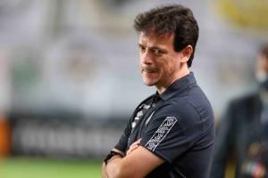 Fernando Diniz em sua estréia pelo Santos -