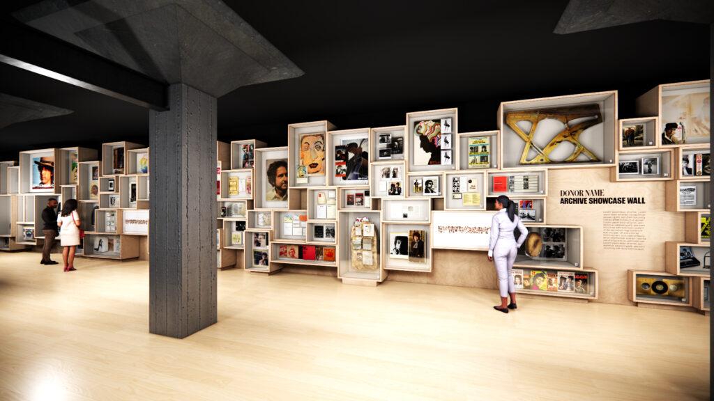 Projeção de como serão as instações do Bob Dylan Center que será inaugurado em 2022 em Tulsa, nos Estados Unidos