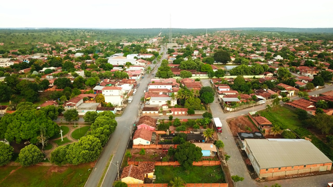 Vista da cidade de Bonito de Minas, onde 70% da população mora na zona rural