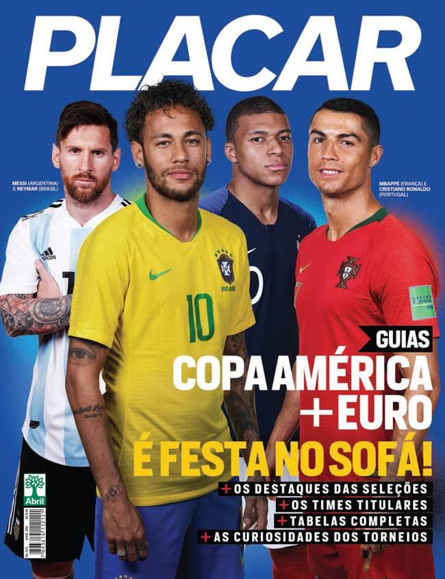 Nova edição da Revista Placar traz os guias da Copa América e Eurocopa -