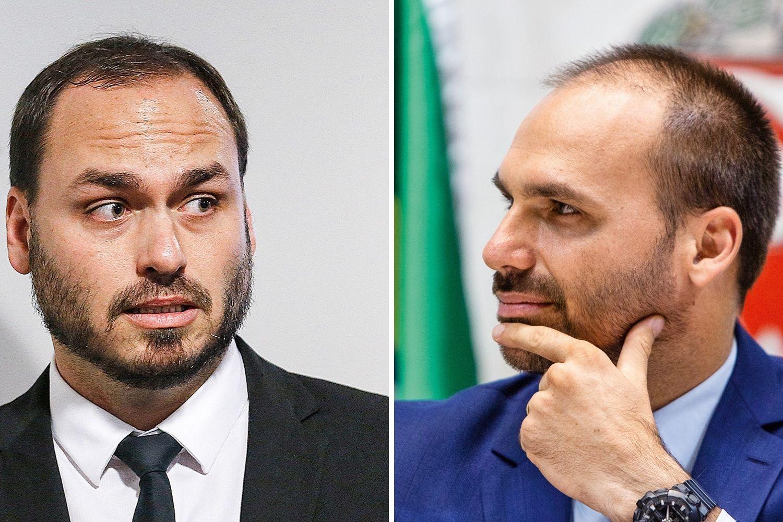 ZERO DOIS E ZERO TRÊS -Carlos e Eduardo Bolsonaro: contato com médicos e presença em reuniões importantes -