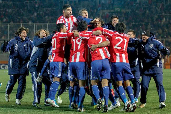 Paraguai festeja na Copa América de 2011