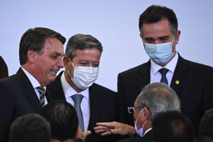 Brazil's President Jair Bolsonaro Attends A Ceremony In Brasilia