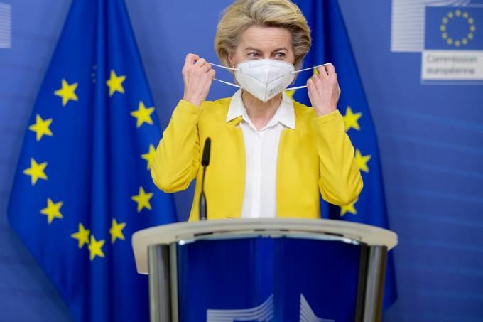 EU Commission's President Makes A Statement On SARS-CoV-2 Crisis