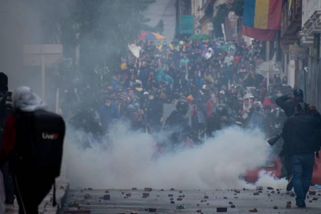 Protestos em Bogotá, na Colômbia - 05/05/2021