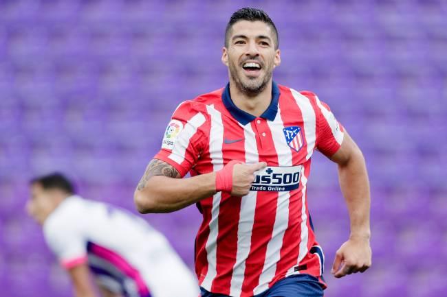 Luis Suarez marcou o gol da vitória do Atlético de Madri