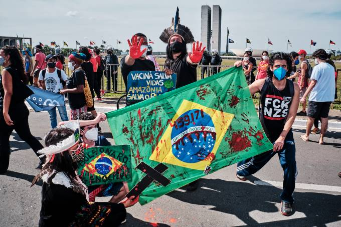 Anti-Bolsonaro Rallies As President Faces Probe For Mismanagement Of Pandemic