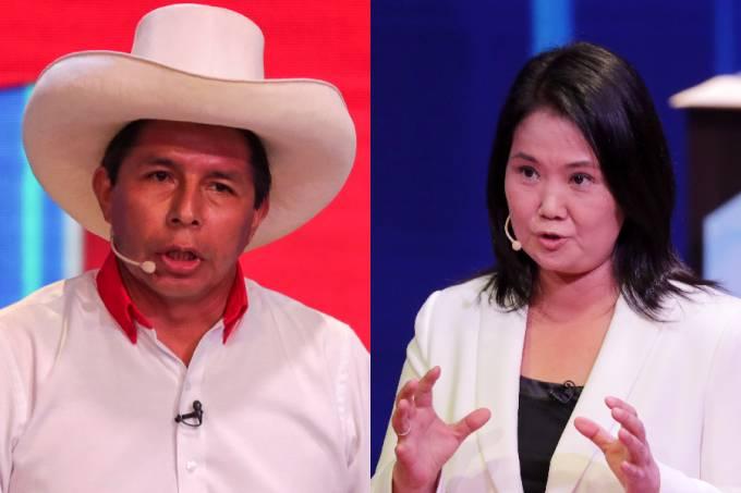 Pedro Castillo e Keiko Fujimori – Eleições Peru 2021 –
