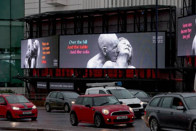 """The Last Taboo"" Campaign Billboard In London"