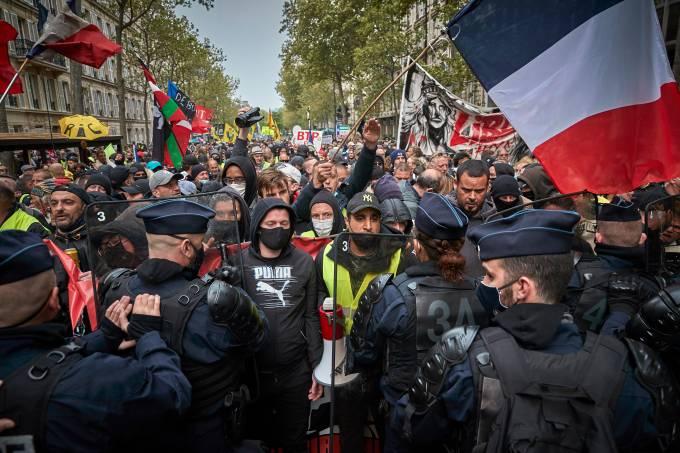 Dia do Trabalhador: protestos em Paris tiveram dezenas de presos