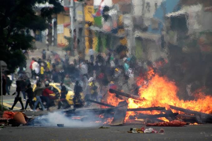 International Workers' Day Demonstration In Medellin