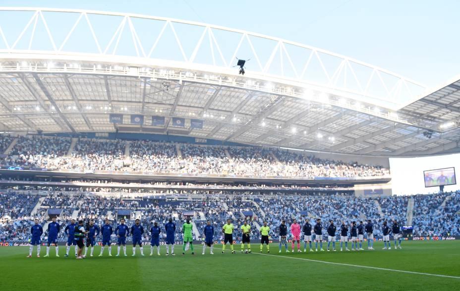 Chelsea x Manchester City na final da Liga dos Campeões no Estadio do Dragão, em Porto