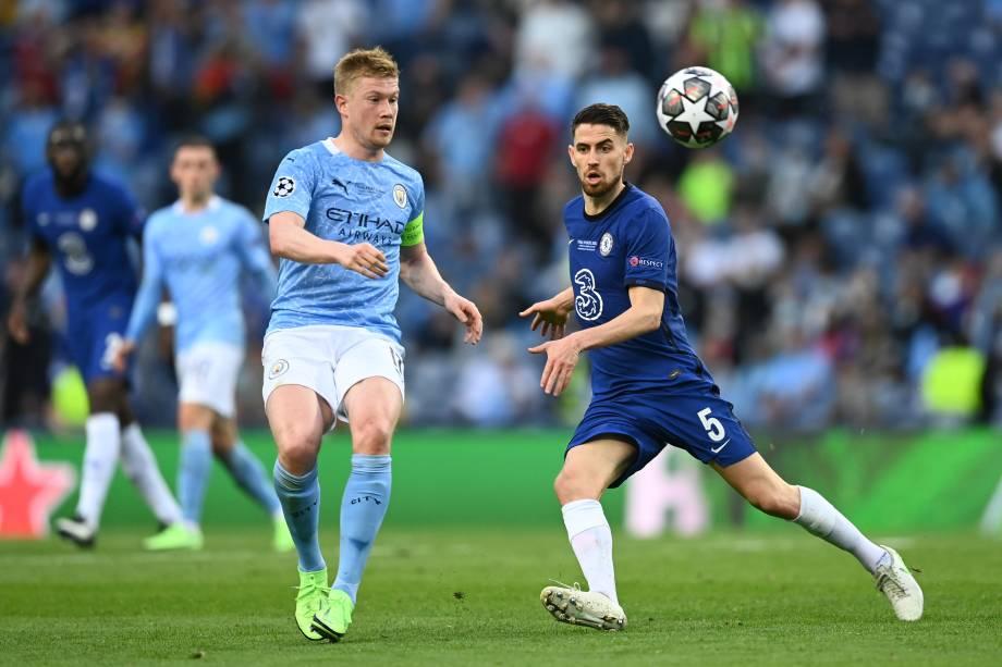 Kevin De Bruyne do Manchester City e Jorginho do Chelsea