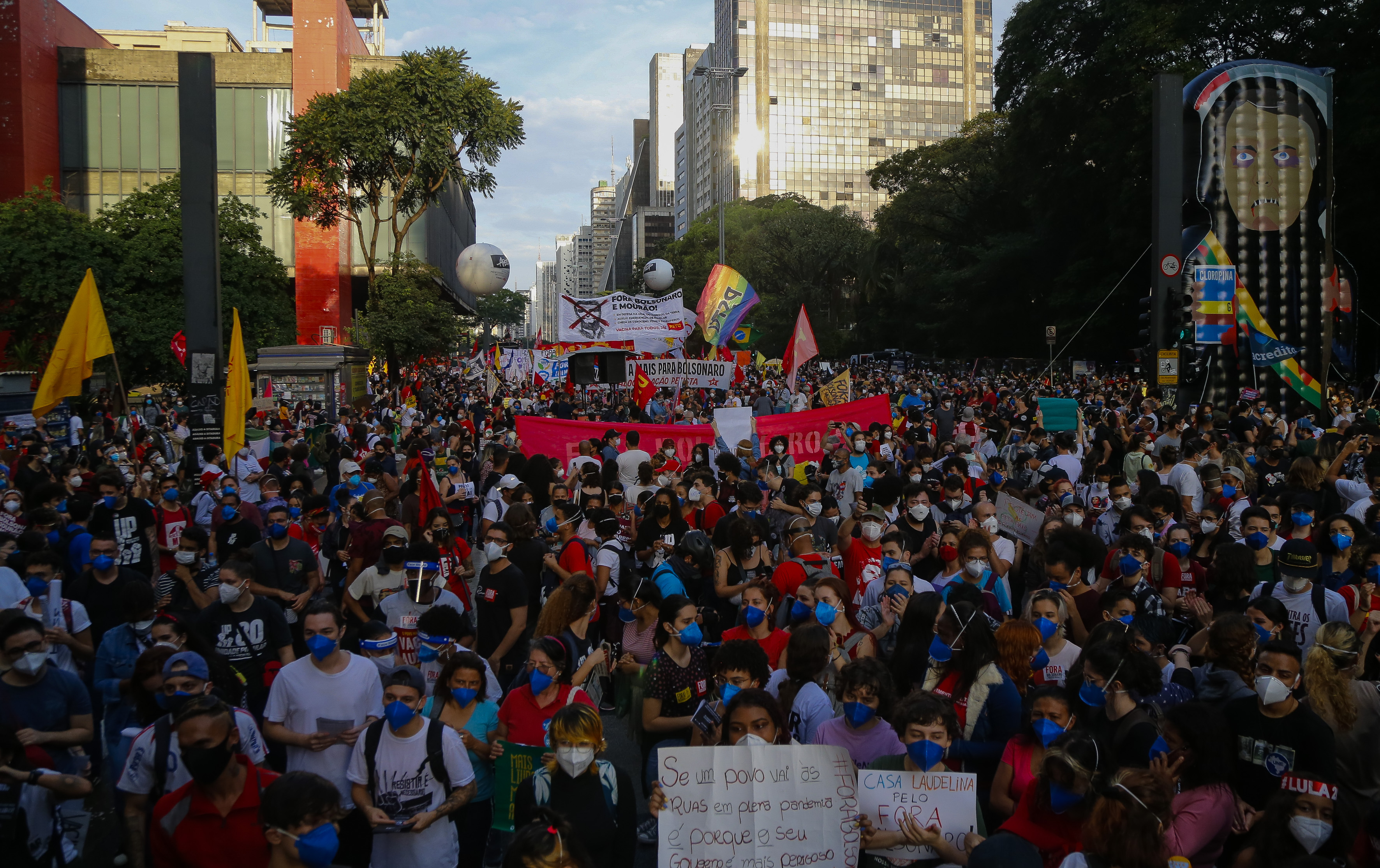 Movimentos de oposição convocam novos atos contra Bolsonaro para o dia 19 |  VEJA