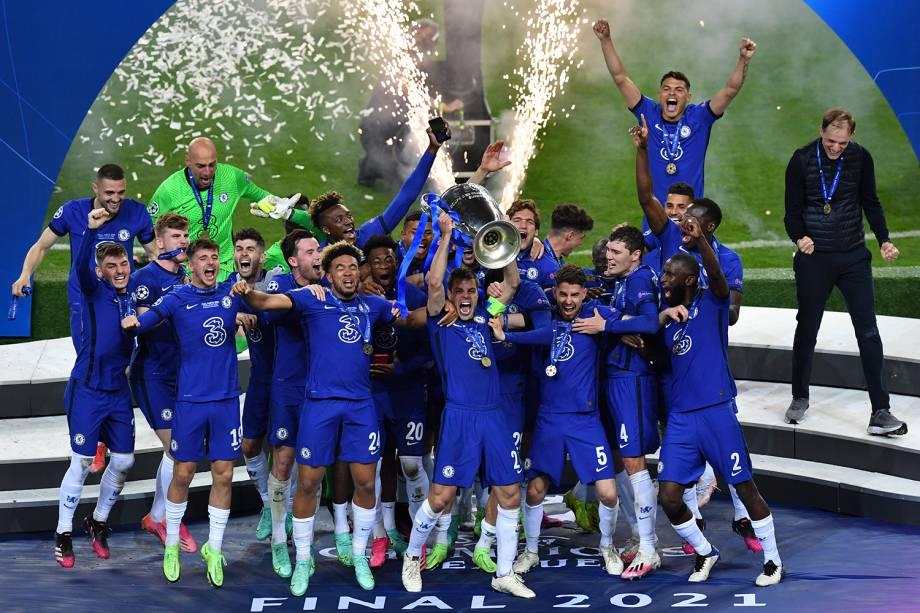 Chelsea comemora seu título da Liga dos Campeões