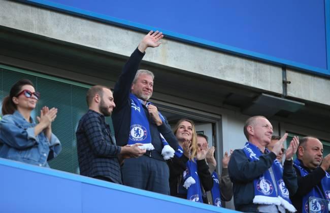 Roman Abramovich, o dono russo do Chelsea, em Stamford Bridge