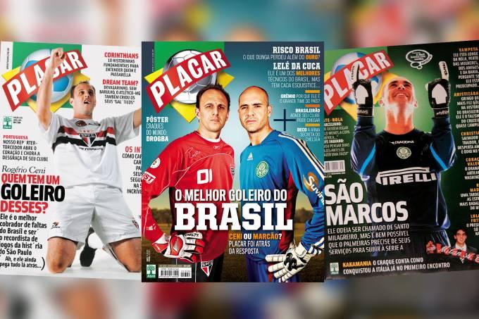 Marcos x Rogério: a rivalidade dos goleiros nas capas de PLACAR