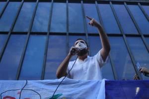 Guilherme Boulos na manifestação contra o governo Bolsonaro na Avenida Paulista -