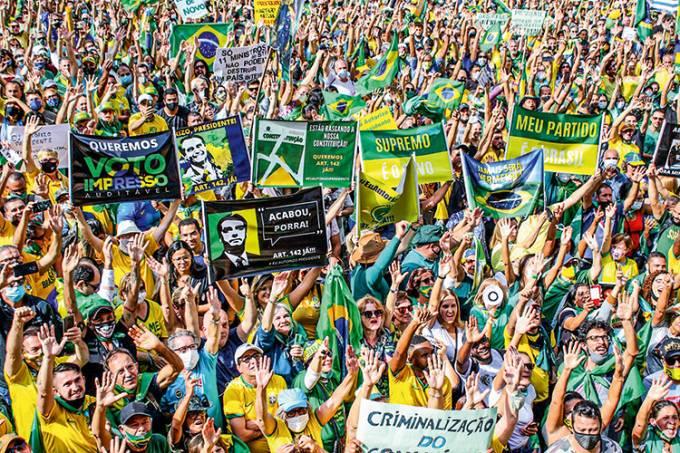 Apoiadores de Jair Bolsonaro Avenida Paulista