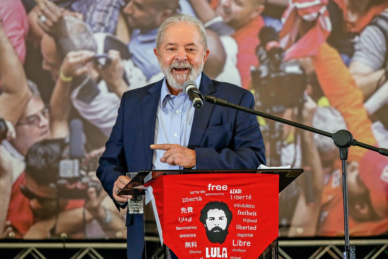 """ALVO -Lula: ele foi rotulado por Bolsonaro como o """"maior canalha da história"""" -"""