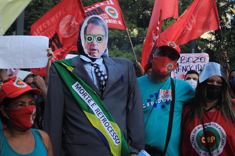 Boneco de Bolsonaro na Paulista -