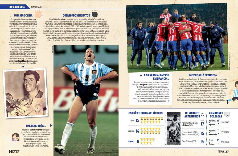Guia PLACAR da Copa América