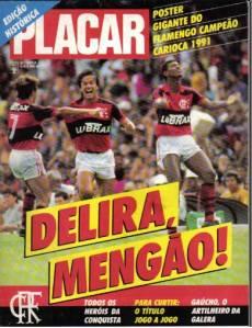 Edição comemorativa de PLACAR sobre o título carioca de 1991
