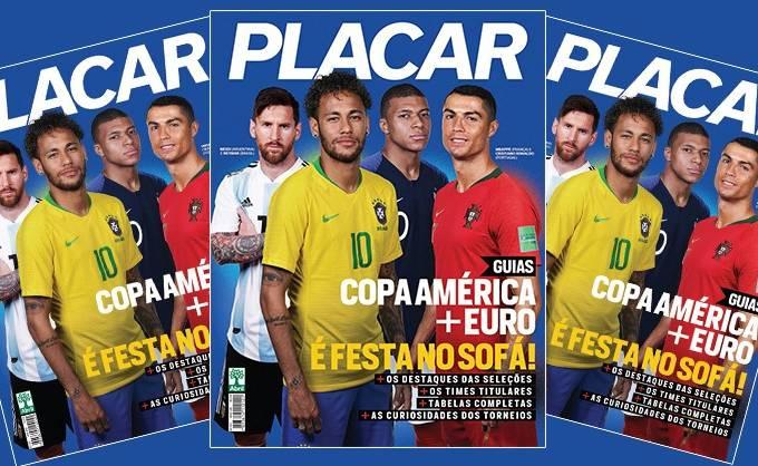 Nova edição da Revista Placar traz os guias da Copa América e Eurocopa –