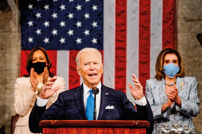 Biden addresses Congress on eve of 100th day in office