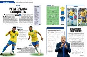 Página da seleção brasileira no Guia PLACAR da Copa América e da Eurocopa