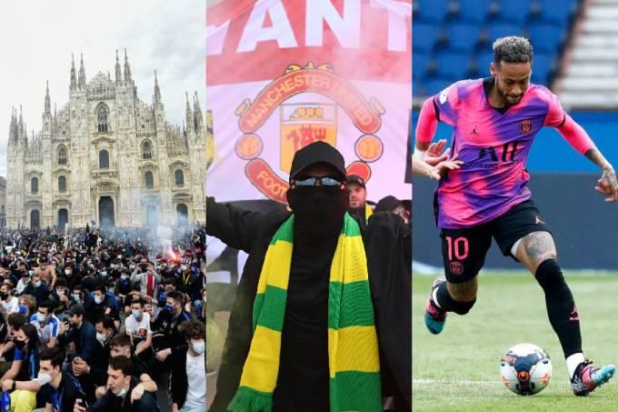 Festa no Duomo de Milão, confusão em Old Trafford e brilho de Neymar na França