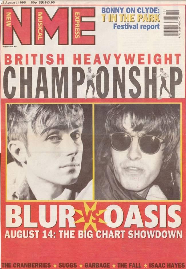 A batalha entre Blur e Oasis esquentou a Inglaterra -
