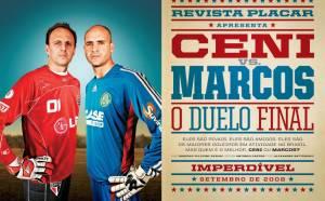 O duelo final entre Ceni e Marcos em 2008