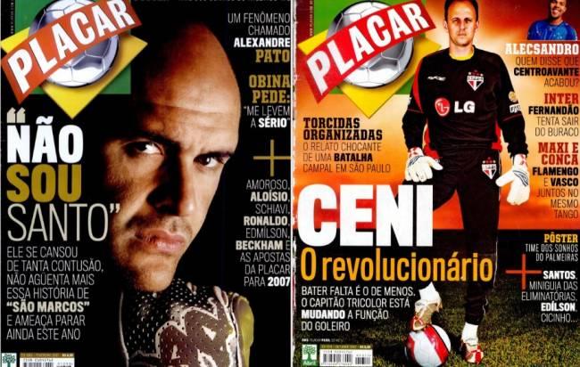 Marcos em Rogério, em capas de PLACAR em 2007
