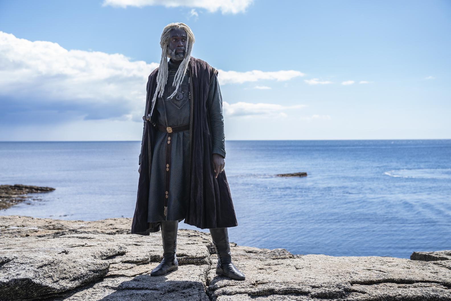 O ator Steve Toussaint como Lord Corlys Velaryon, 'The Sea Snake', na série 'House of the Dragons'