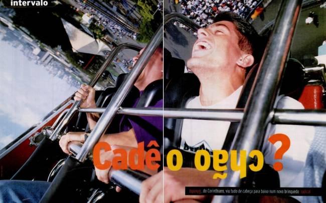 Sylvinho no Playcenter, em PLACAR de setembro de 1995