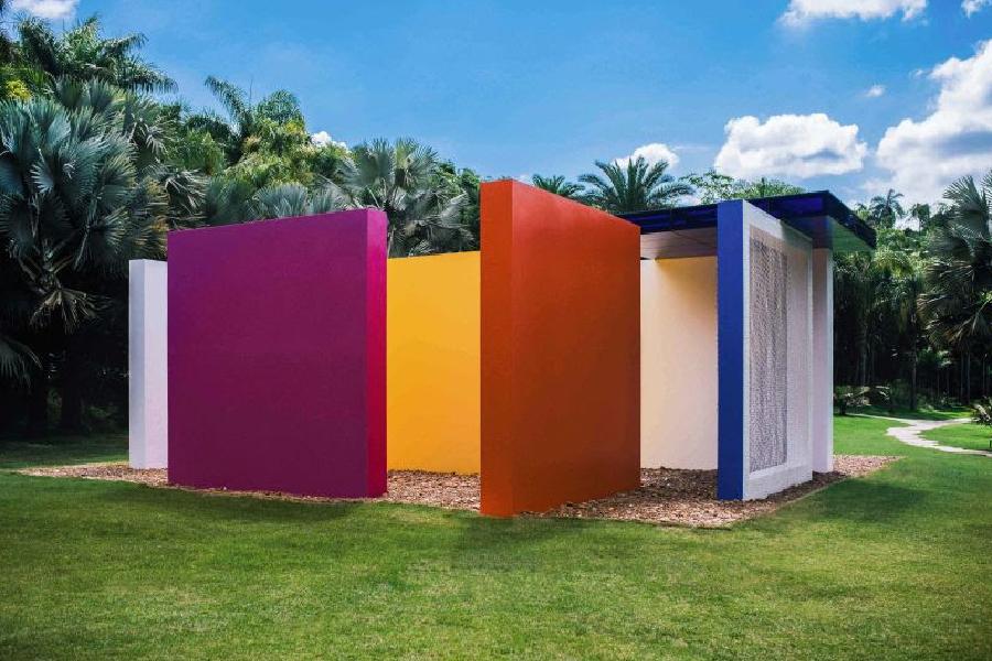 """""""Magic Square #5"""", de Hélio Oiticica, em exposição no Instituto Inhotim."""