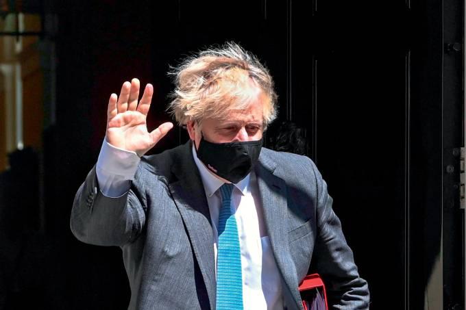 Britain's Prime Minister Boris Johnson attends PMQS