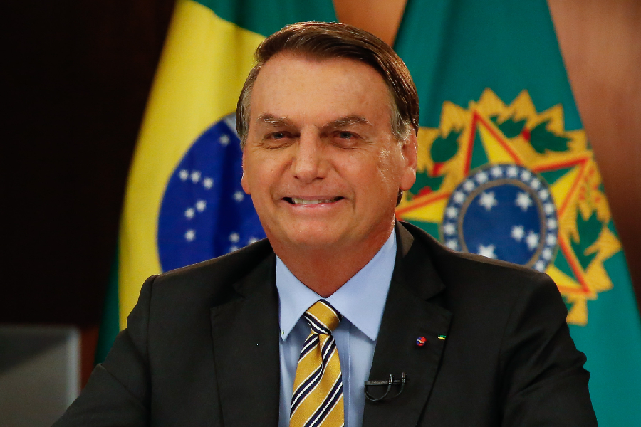 Jair Bolsonaro durante pronunciamento - 02/06/2021 -