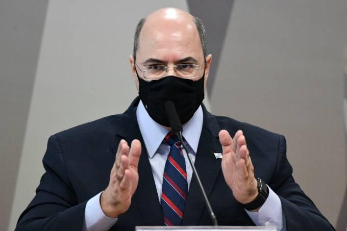 Wilson Witzel durante depoimento à CPI da Pandemia – 16/06/2021 –