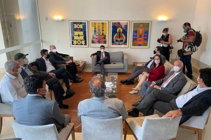 Almoço reuniu representantes de sete partidos em Brasília: DEM, PSDB, Podemos, MDB, Cidadania, Solidariedade, e PV